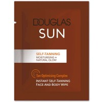 Douglas Collection Sun Self-Tanning Face And Body Wipe