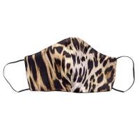 Tie-Me-Up! Tie-Me-Up Silk Mask Animal Print Black