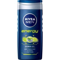 Nivea Energy Body, Face & Hair Shower Gel With Mint Extract